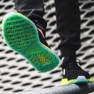 3c5b373bd3c41 adidas Shoes - Adidas Deerupt Runner - Black Ash Blue Neon Green
